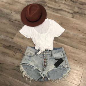 OneTeaspoon Florence Rollers Denim Shorts